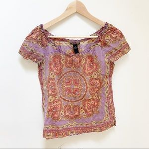 Lucky brand off shoulders cotton blouse M